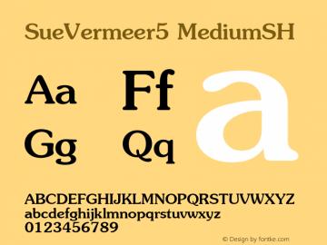 SueVermeer5 MediumSH SoHo 1.0 10/1/93 Font Sample