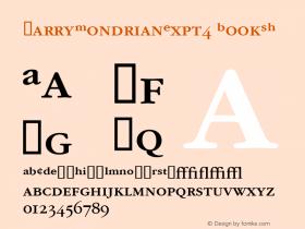 GarryMondrianExpt4 BookSH SoHo 1.0 9/30/93 Font Sample