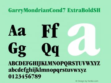 GarryMondrianCond7 ExtraBoldSH SoHo 1.0 9/30/93 Font Sample