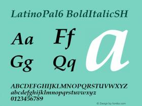 LatinoPal6 BoldItalicSH SoHo 1.0 10/1/93图片样张