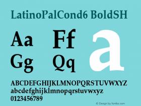 LatinoPalCond6 BoldSH SoHo 1.0 10/1/93 Font Sample