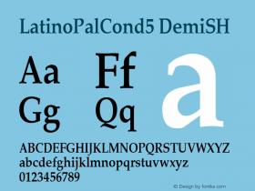 LatinoPalCond5 DemiSH SoHo 1.0 10/1/93 Font Sample