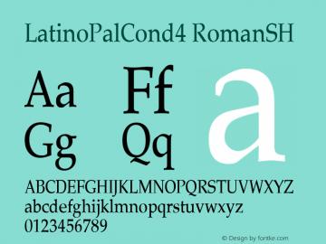 LatinoPalCond4 RomanSH SoHo 1.0 10/1/93 Font Sample