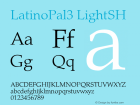 LatinoPal3 LightSH SoHo 1.0 9/30/93 Font Sample