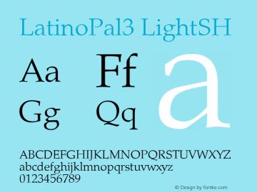 LatinoPal3 LightSH SoHo 1.0 9/30/93 Font Sample