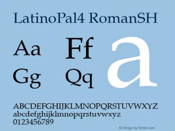 LatinoPal4 RomanSH SoHo 1.0 10/1/93 Font Sample