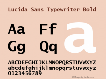 Lucida Sans Typewriter Bold Version 1.01图片样张