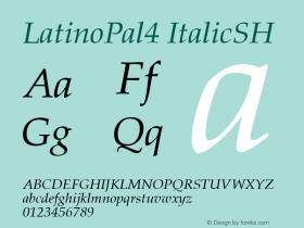 LatinoPal4 ItalicSH SoHo 1.0 10/1/93 Font Sample