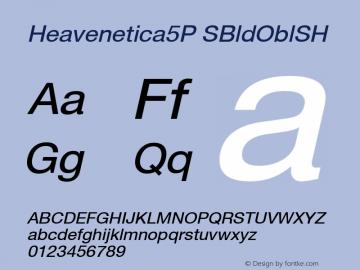 Heavenetica5P SBldOblSH SoHo 1.0 10/1/93 Font Sample