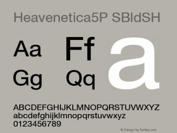 Heavenetica5P SBldSH SoHo 1.0 10/1/93 Font Sample