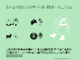 ChristmasTime Regular Macromedia Fontographer 4.1 2000-09-29图片样张