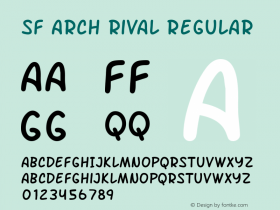 SF Arch Rival Regular Version 1.1图片样张