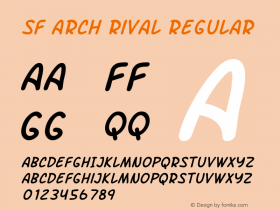 SF Arch Rival Regular ver 1.0; 2000. Freeware.图片样张