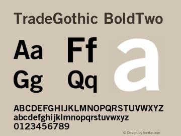 Trade Gothic Bold No 2 Version 001.001图片样张