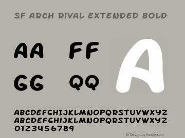SF Arch Rival Extended Bold Version 1.1 Font Sample