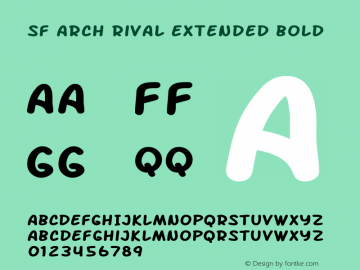 SF Arch Rival Extended Bold ver 1.0; 2000. Freeware. Font Sample