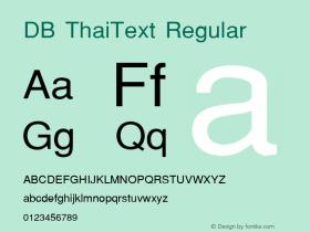 DB ThaiText Regular MS core font:v1.00 Font Sample