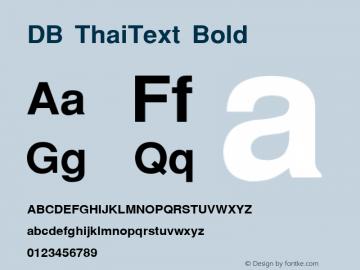 DB ThaiText Bold MS core font:v1:00 Font Sample