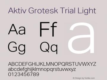 Aktiv Grotesk Trial Font,Aktiv Grotesk Trial Light Font