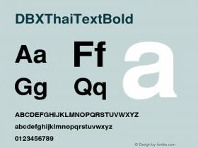 DBX ThaiText Bold MS core font:v1:00图片样张