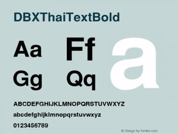 DBX ThaiText Bold MS core font:v1:00 Font Sample