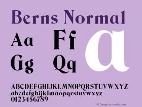Berns Normal 1.000 Font Sample