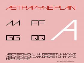 Astradyne Plain Altsys Fontographer 3.3  19/11/96 Font Sample