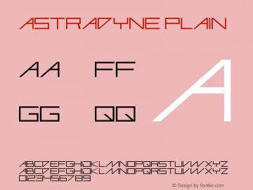 Astradyne Plain Altsys Fontographer 3.3  19/11/96图片样张