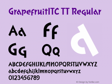 GrapefruitITC TT Regular Macromedia Fontographer 4.1.3 10/2/96图片样张