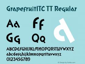 GrapefruitITC TT Regular Macromedia Fontographer 4.1.3 10/2/96 Font Sample