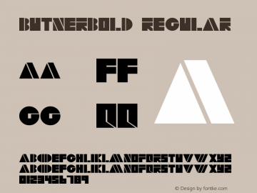 ButnerBold Regular Altsys Fontographer 4.0.2 5/15/95 Font Sample