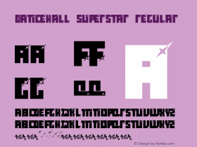 dancehall superstar Regular Altsys Fontographer 4.0 9/15/96 Font Sample