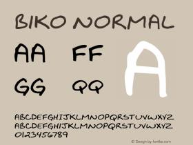 Biko Normal 1.000 Font Sample