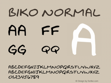 Biko Normal 1.000 Font Sample