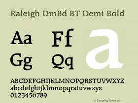 Raleigh Demi Bold BT Version 2.1图片样张