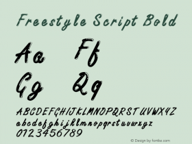 Freestyle ScriptITC-Bold Version 2.1图片样张