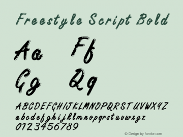 Freestyle ScriptITC-Bold Version 2.1图片样张