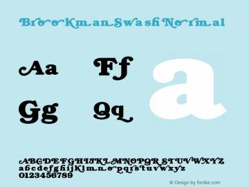BrookmanSwash Normal 1.000 Font Sample