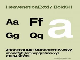 HeaveneticaExtd7 BoldSH SoHo 1.0 9/16/93 Font Sample