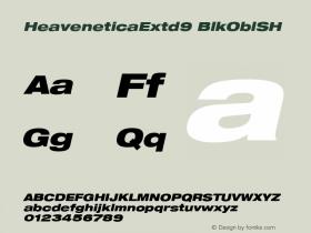 HeaveneticaExtd9 BlkOblSH SoHo 1.0 9/16/93 Font Sample