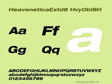 HeaveneticaExtd8 HvyOblSH SoHo 1.0 9/16/93 Font Sample