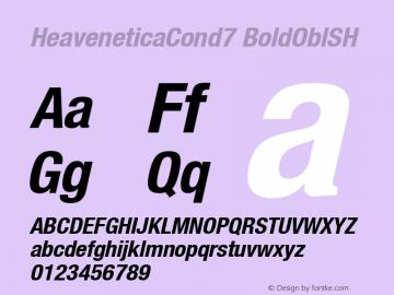 HeaveneticaCond7 BoldOblSH SoHo 1.0 9/16/93 Font Sample