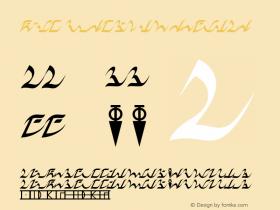 D'ni Script LM Regular Version 1.0 Font Sample