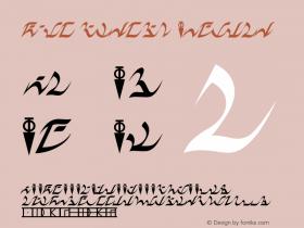 D'ni Script Regular Version 2.2  (Revision B by Jehon) Font Sample