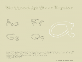 BlottoooLightBeer Regular 1.0 of this less than Blottooo font Font Sample