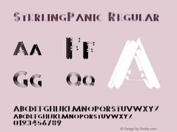 SterlingPanic Regular 1.0 of this Metalic Panic-y little font thingie Font Sample