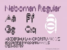 Neboman Regular 1.0 of this Nebolithic Font Font Sample