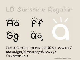 LD Sunshine Regular 9/29/00 Font Sample