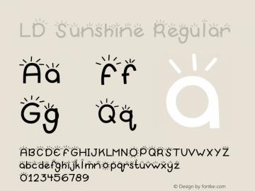 LD Sunshine Regular 9/29/00 Font Sample