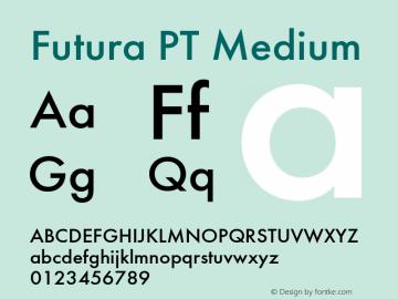 Futura PT Medium Version 1.006图片样张